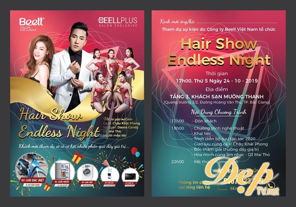 Có hẹn cùng Hair Show đẳng cấp Endless Night  trong tháng 10