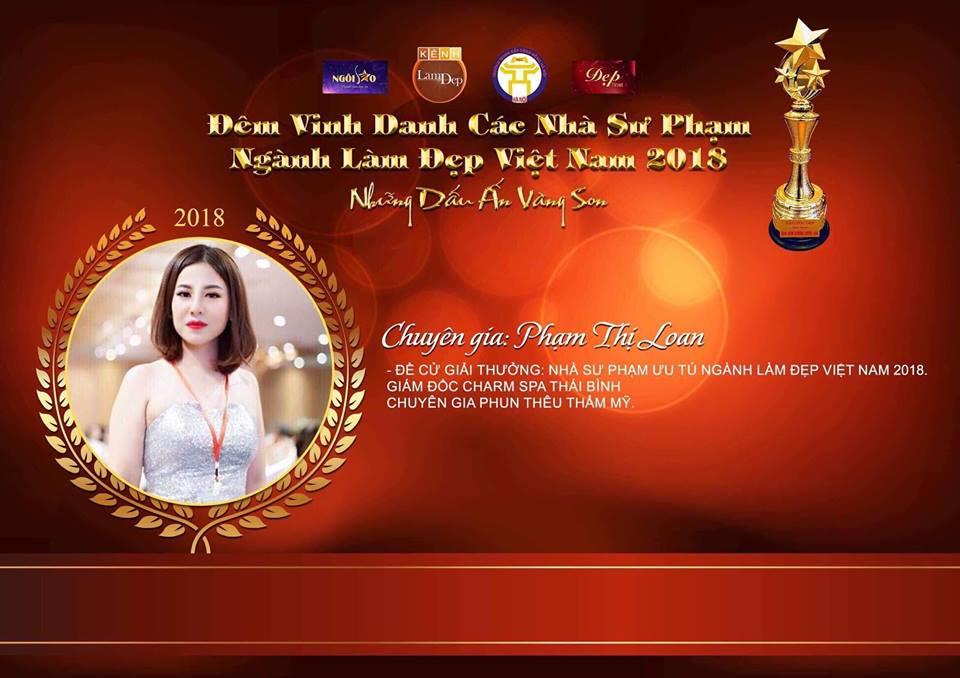Nhà sư phạm 8 năm kinh nghiệm Phạm Thị Loan nhận đề cử giải thưởng Nhà sư phạm ưu tú ngành làm đẹp Việt Nam