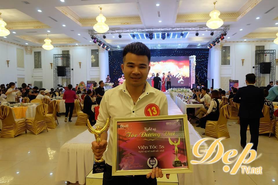 Viện tóc 5S đạt giải thưởng Nghệ sỹ trẻ xuất sắc nhất tại Hair show Nghệ sỹ tóc đương đại