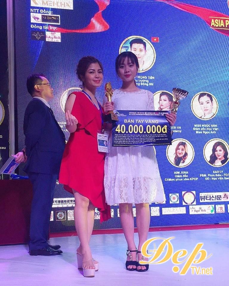 Chuyên gia trẻ Nguyễn Hoàng Thuỳ Linh đạt giải thưởng Bàn tay vàng ASIA PACIFIC BEAUTY FESTIVAL 2019