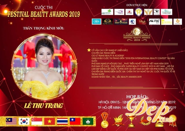 Chuyên gia Lê Thu Trang - Cố vấn cao cấp Makeup miền Bắc cuộc thi Festival Beauty Award 2019