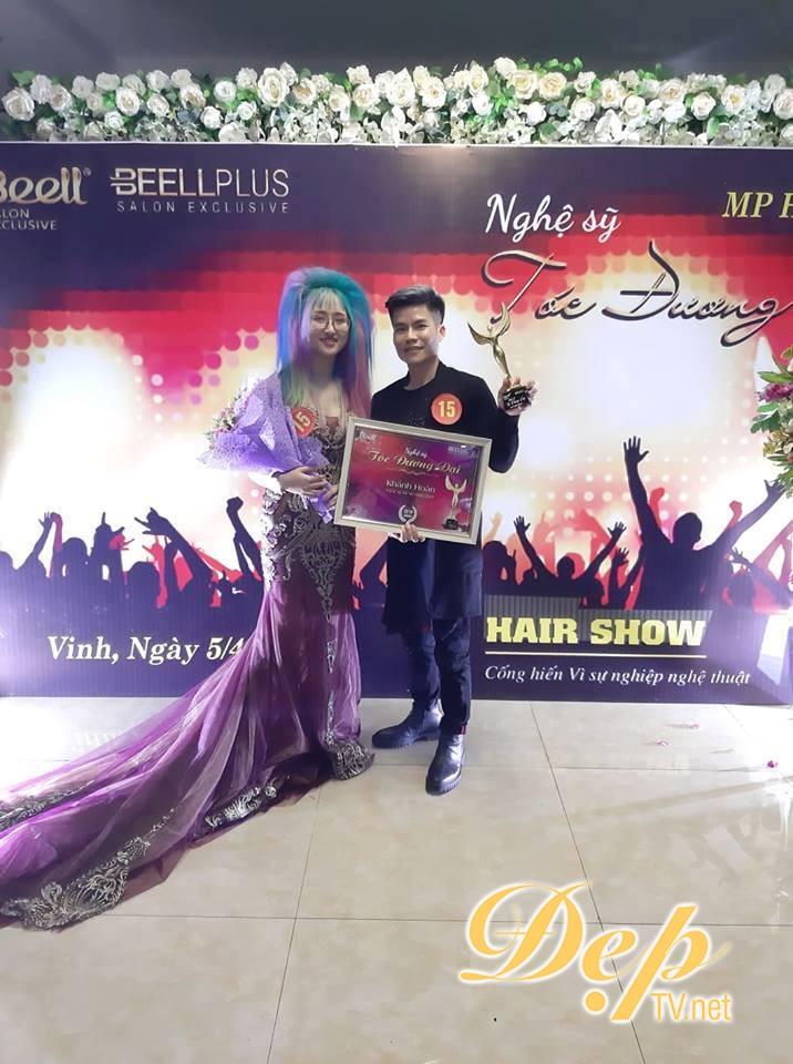 Nhà tạo mẫu tóc trẻ Tăng Văn Lực đoạt giải thưởng Nghệ sĩ tóc tài năng nhất tại Nghệ sĩ tóc đương đại 2019